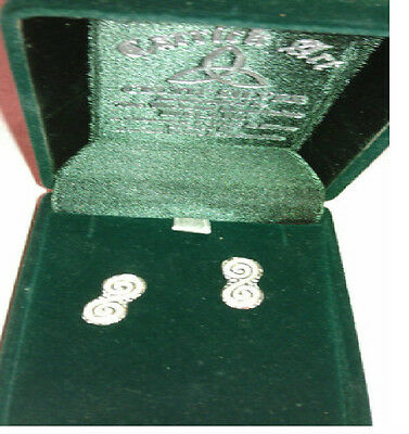 New Sterling Silver Celtic Post Earrings Handcrafted in Wicklow Mountains in Box