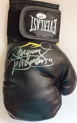 Manny Pacman Pacquiao Signed Black Everlast Boxing Glove PSA/DNA COA Autographed