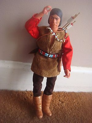 Vintage Marx / Gabriel Lone Ranger - Red Sleeves Apache Indian Action Figure