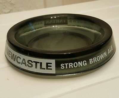 Newcastle Strong Brown  Ale Black Glass Ashtray