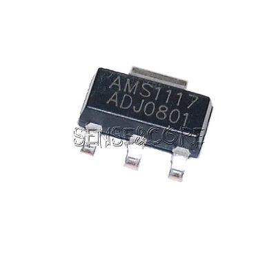 10PCS AMS1117-ADJ LM1117-ADJ AMS1117 LM1117 IC 1A Voltage Regulator SOT-223