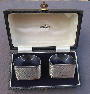 Boxed Pair Of George V Hallmarked Silver Napkin Rings