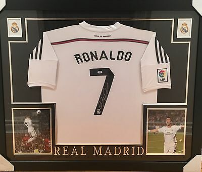 Cristiano Ronaldo Custom Framed Signed Real Madrid Jersey