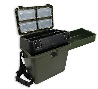 Green Fishing Seat Box For Carp Fishing Sea Fishing Tackle Ngt Tackle