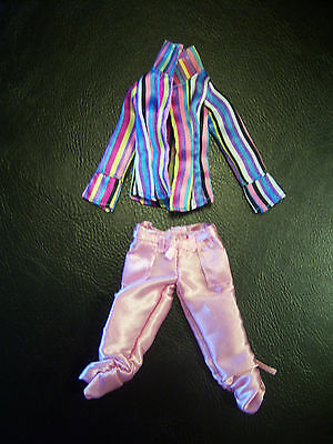 2 Piece Fashion Avenue Barbie Doll Pink Satin Caprices and Satin Top