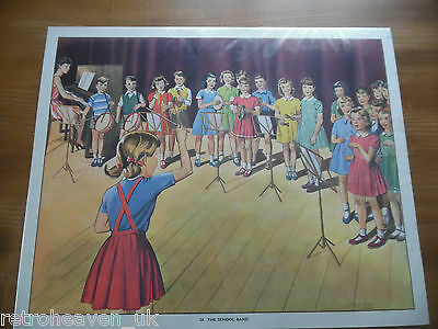 Vintage Retro 1930s Large Teaching School Poster No 28 A School Band