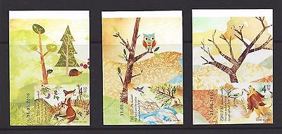 ISRAEL 2017 - Parables Of The Sages, 3  Imperforate  Stamps
