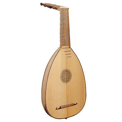 Laúd Descendiente, Nogal y Lacewood de 7 platos, Descant Lute 7 Course