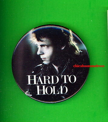 Hard to Hold 1984 movie button pinback badge Rick Springfield