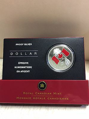 2005 Canada's National Flag - Proof Red- Enamelled  $1.00 Coin .