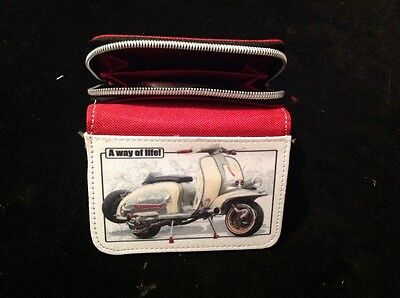 Brand new mod scooter  ladies Purse Wallet Birthday  Gift