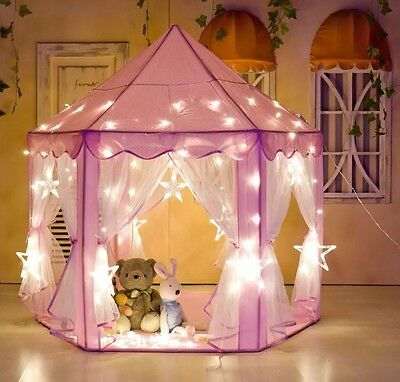 Portable Princess Castle Play Tent Activity Fairy House Fun Playhouse Toy Pink