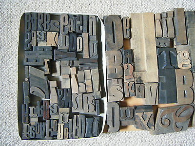 Mixed lot of vintage wooden letters