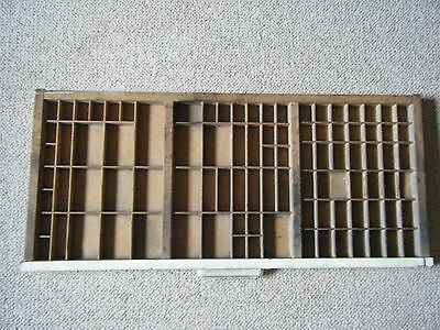 wooden printer's tray