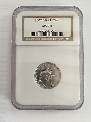 2007 $25.00 Platinum Eagle PERFECT NGC MS70