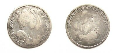 William & Mary 1692 The Battle Of La Hogue Token / Medalet - Scarce - Roettier