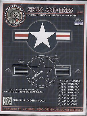 Stars And Bars Furball Decals 48035 1/48
