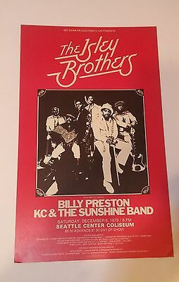 RaRe 1975 THE ISLEY BROTHERS Kc & the Sunshine Soul R&B Seattle Original POSTER