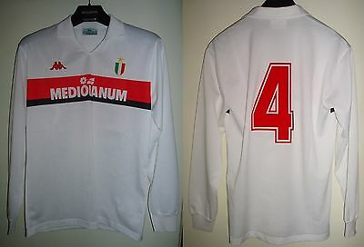 Maglia Ac Milan 1988/89 Angelo Colombo Away Match Worn Shirt Trikot Maillot