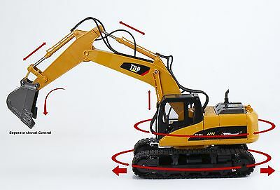 Top Race 15 Channel Full Functional Professional RC Excavator Remote Control NEW