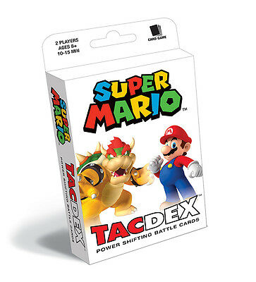Super Mario TacDex Card Game Go to Battle with Mario and Friends!