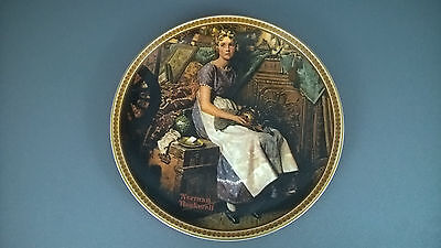 "Vintage Norman Rockwell Plate "" Dreaming In The Attic """