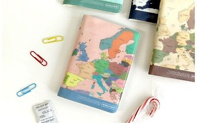 World Map cute Passport Cover Case holder Id Card wallet Travel Accessories
