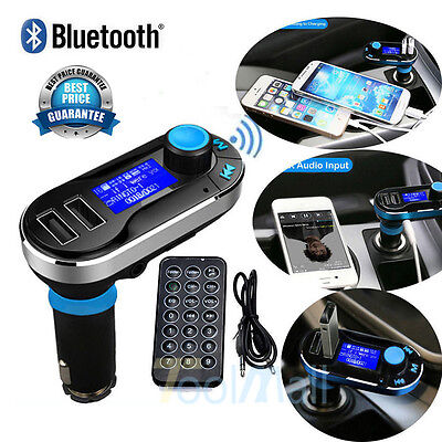 Car Kit MP3 Player FM Transmitter Bluetooth Wireless Radio Adapter USB Charger