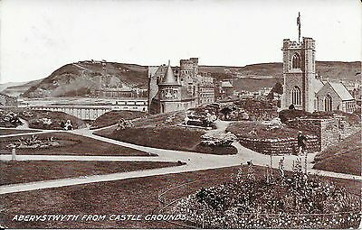 Old Postcard Of Aberystwyth From The Castle Grounds