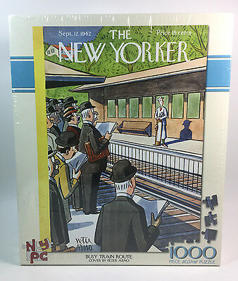 New Yorker 1000 Pc Piece JigSaw Puzzle Busy Train Route 1942 Made in USA NIB