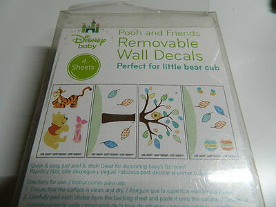 Disney Baby Pooh and Friends Removable Wall Decals Stickers new - Fast Free Ship