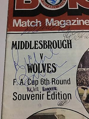 Middlesbrough V Wolves FA Cup Signed Programme 1980 - Including Emlyn Hughes