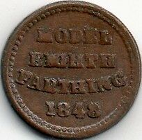MODEL PENNY EIGTH FARTHING 1848 by Joseph Moore COIN TOKEN
