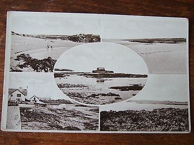 5 views, Aberffraw  & Rhosneigr, Cable bay near Holyhead, Anglesey. old postcard