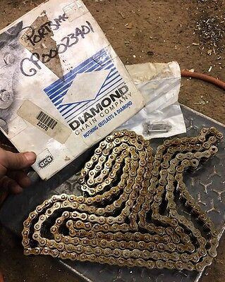 """10' Diamond 40-2 Riveted Double Roller Chain 1/2"""" Pitch X-5466-010 716647270538"""