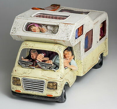 "GUILLERMO FORCHINO Skulptur ""The Camper - Das Wohnmobil"" Comic Art Figur FO85084"