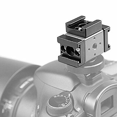 Anwenk Cold Shoe Mount Adapter Bracket Standard for Camera, Monitor Video & more