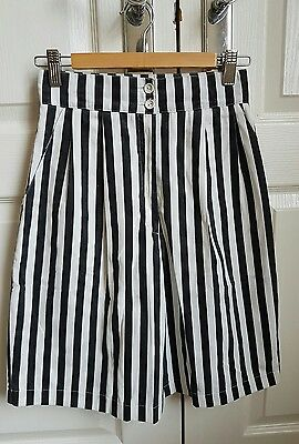 Vintage striped high-waist shorts/culottes size 8-10