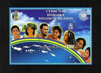 Solomon Islands 2000 Commonwealth Youth Ministers' Meeting m/s (SG MS964) MNH