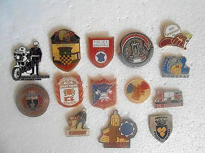 14 Pin's / Pins  Police Pompiers Brigade St Tropez Cannes  Moto Sauvetage...