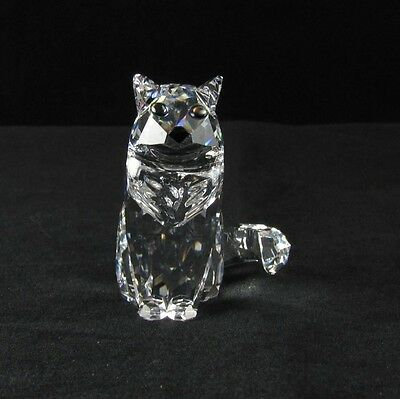 "SWAROVSKI Crystal ""SITTING CAT"" Mint Condition in Box. COA."