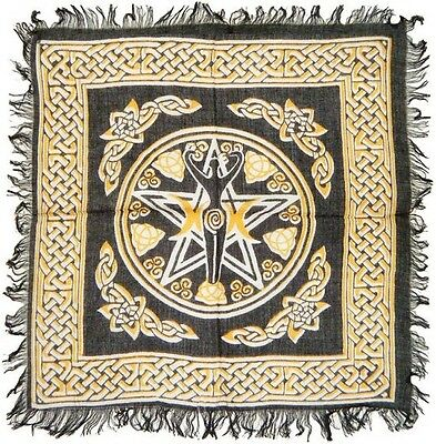 New Pentacle with Goddess Altar Cloth 18 inch #RV-SR65