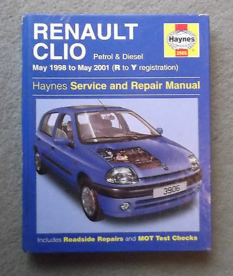 RENAULT CLIO, 1998 to 2001, PETROL & DIESEL, HAYNES WORKSHOP MANUAL