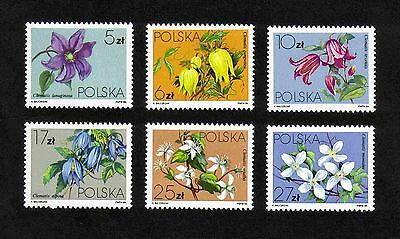 Poland 1984 Flowers (Clematis) complete set of 6 values (SG 2921-2926) MNH