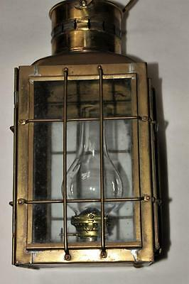 VINTAGE 'CHIEF LIGHT'  BRASS SHIP's  LAMP / DATED 1935 /  No.3509 /