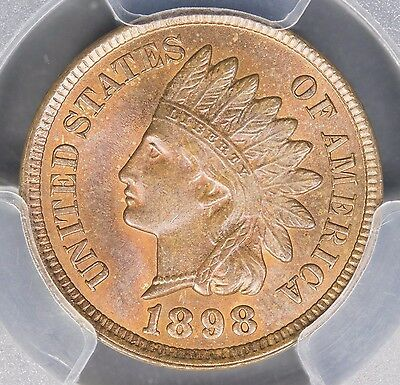 1898 Indian Head Cent MS65 BN