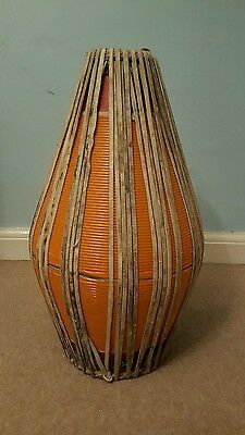 Orange ceramic Khol authentic Indian drum
