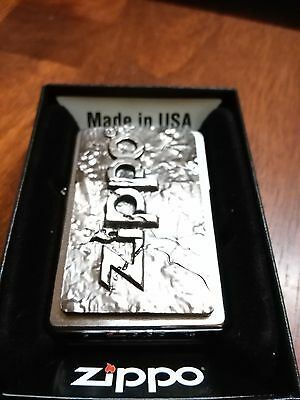 zippo lighter heavy plate zippo logo new and unstruck from 2012