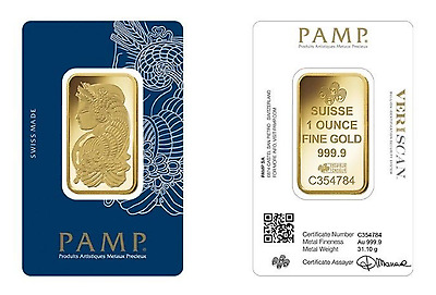 Pamp 1oz (Ounce) Gold Bar 999.90 24k Investment FREE FAST DELIVERY 1 oz Pure