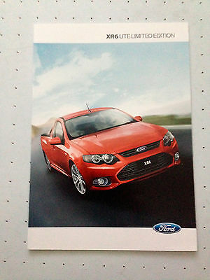 Ford Falcon Ute FG XR6 Limited Sales Brochure